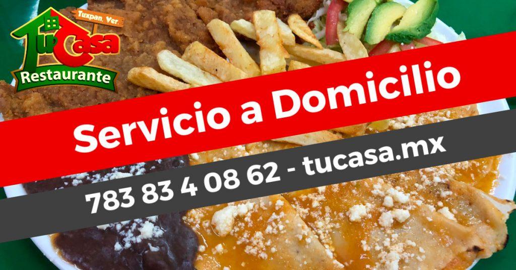 Comida a domicilio en Tuxpan, Veracruz - Restaurante Tu Casa - Para Post