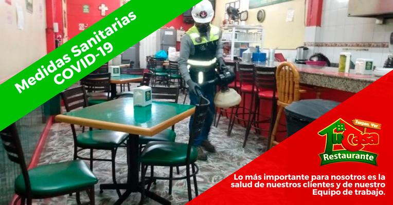 Sanitización del Restaurante Tu Casa en Tuxpan, Veracruz - Restaurante Seguro