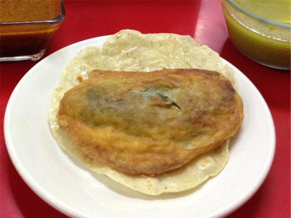 Chile relleno - Restaurantes Tuxpan, Ver.