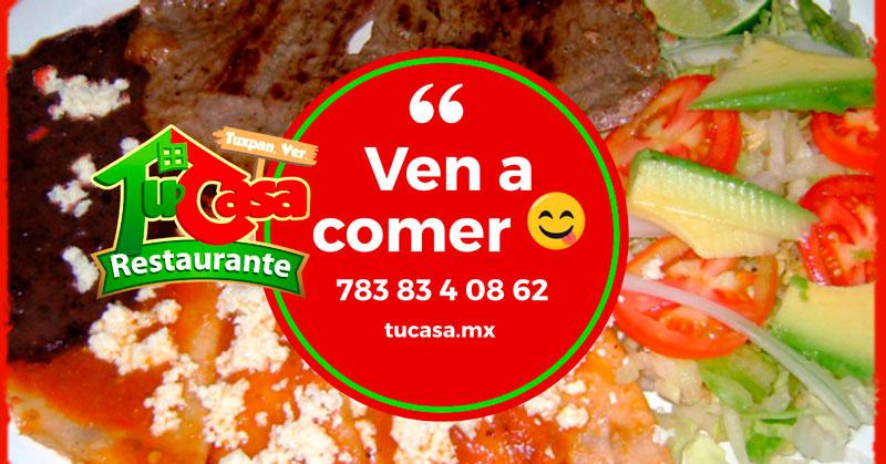 Ven a comer al Restaurante Tu Casa en Tuxpan, Veracruz - Landing