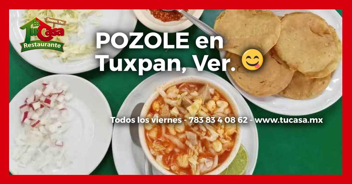 Pozole de la comida corrida del Restaurante Tu Casa en Tuxpan, Veracruz